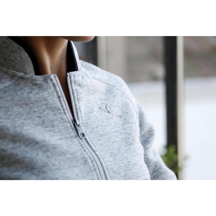 Veste 900 Gym & Pilates femme sans capuche gris effet neps - 1229761