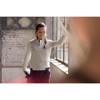 Veste 900 Gym & Pilates femme sans capuche gris effet neps - 1229773