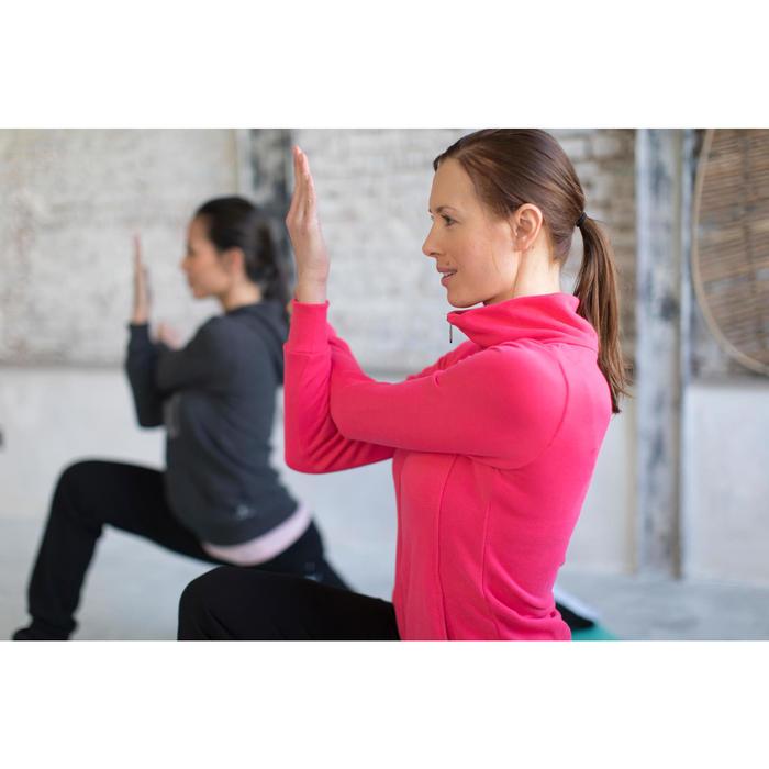 Veste 500 Gym & Pilates femme sans capuche zippée - 1229846