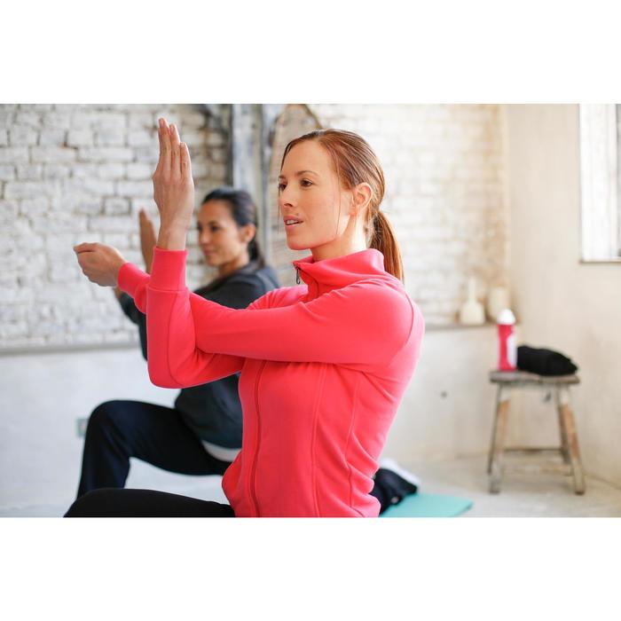 Veste 500 col montant Gym Stretching femme noir