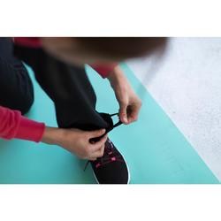 Pantalón Chándal Gimnasia Pilates Domyos 500 Regular Mujer Negro