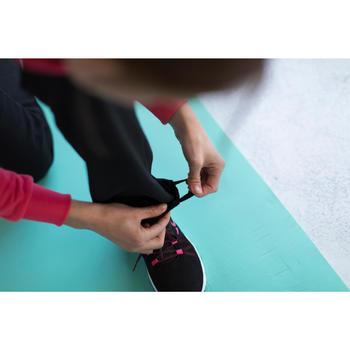 Sudadera Chándal Cremallera Gimnasia Pilates Domyos 500 Mujer Negra