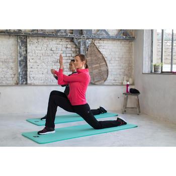 Trainingsjacke 500 Stehkragen Pilates sanfte Gymnastik Damen schwarz