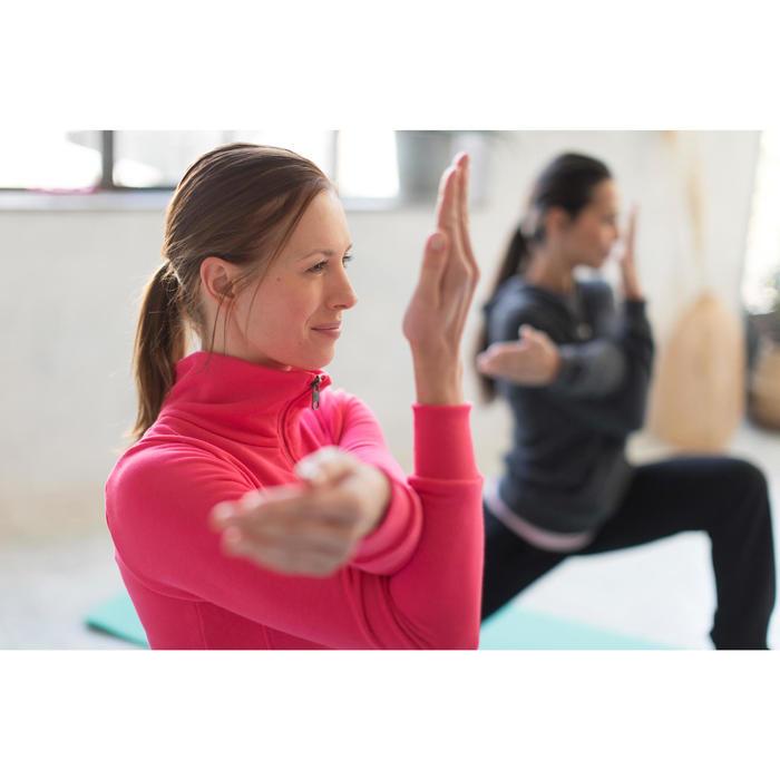 Veste 500 Gym & Pilates femme sans capuche zippée - 1229871
