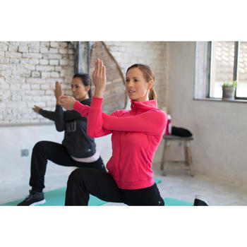 Veste 500 Gym & Pilates femme sans capuche zippée - 1229872