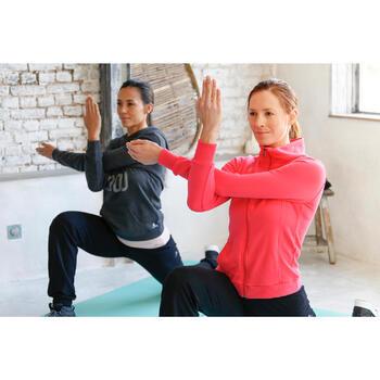 Veste 500 Gym & Pilates femme sans capuche zippée - 1229883