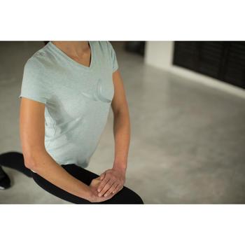 Dames T-shirt met korte mouwen voor gym en pilates gemêleerd - 1229892
