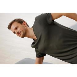 T-shirt homme col V 500 coupe slim blanc