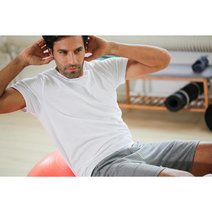T-ShirtSportee 100 Regular Gym Stretching Herren marineblau