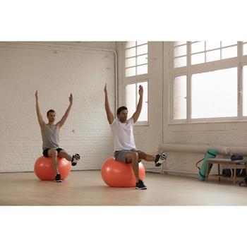 Camiseta Manga Corta Gym Pilates Domyos 100 Regular 100% Algodón Hombre Azul