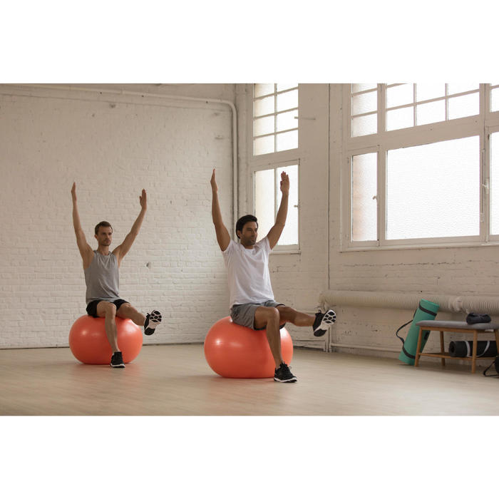 Camiseta Manga Corta Gym Pilates Domyos 100 Regular 100% Algodón Hombre Negro