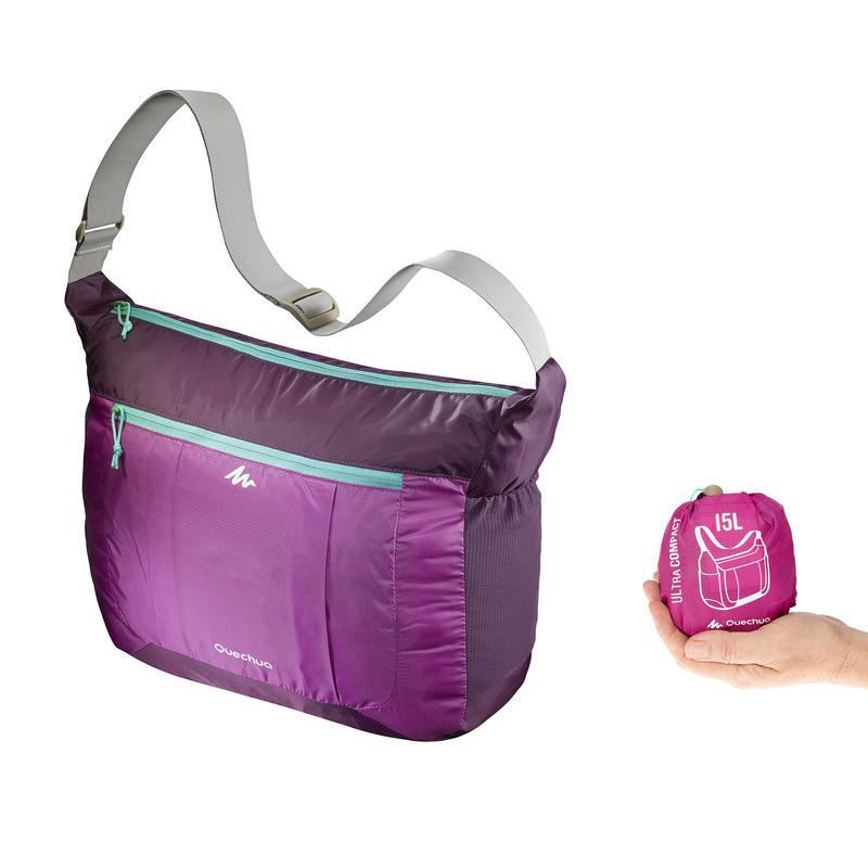 An ultra-compact, ultra-lightweight messenger bag - purple
