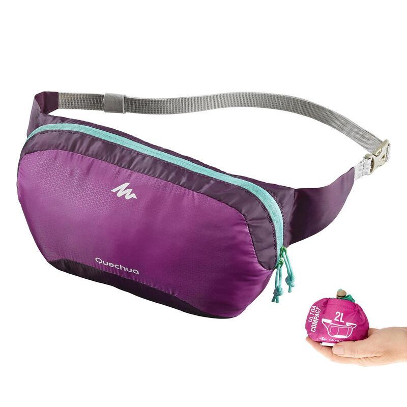Ultra-Compact Travel Bum bag - Purple