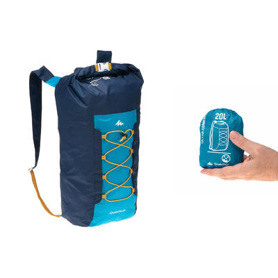 Morral TRAVEL ultra compacto 20 litros impermeable azul