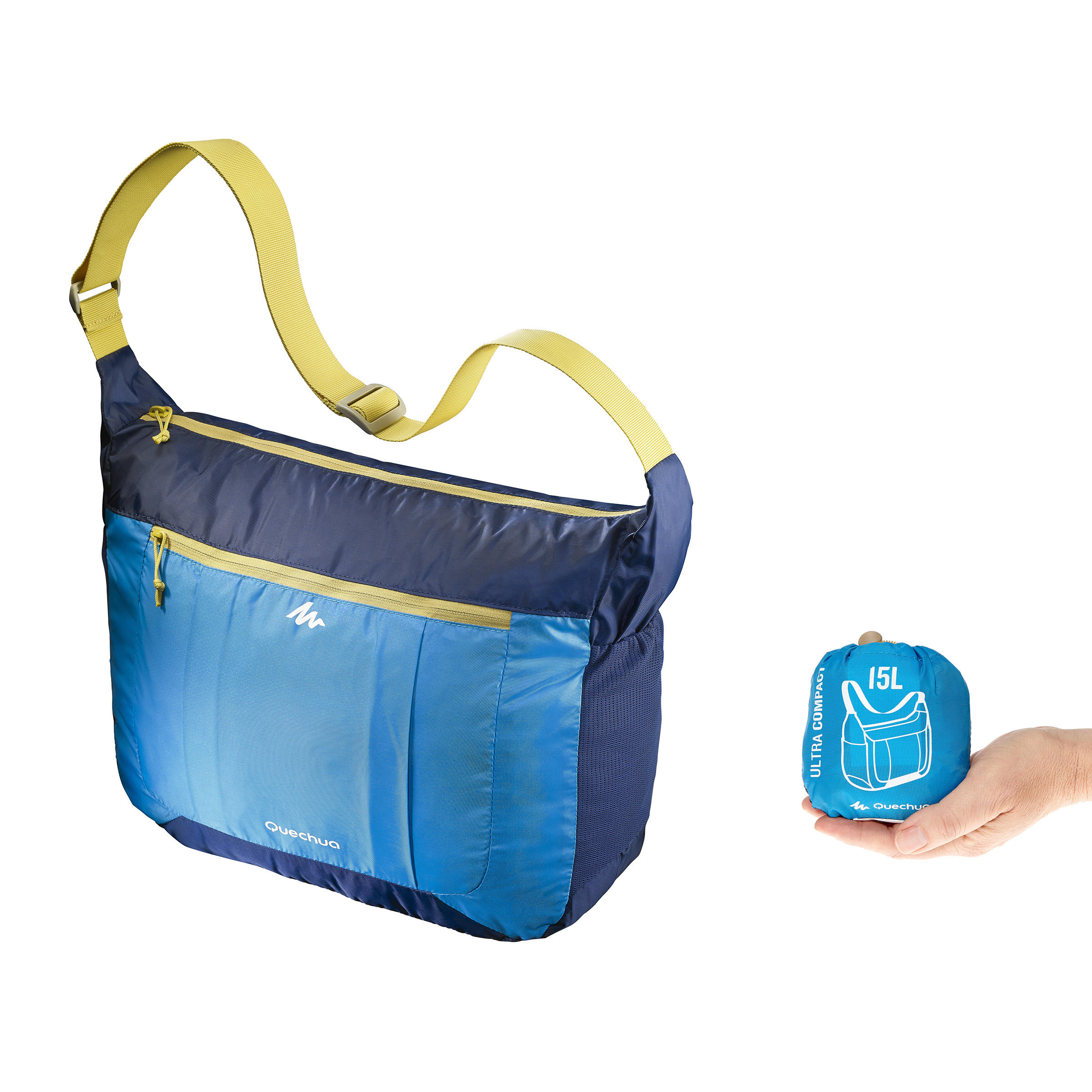 Ultra-Compact Hiking Satchel - Blue