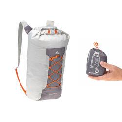 Mochila TRAVEL ultra compacta 20 litros impermeable gris