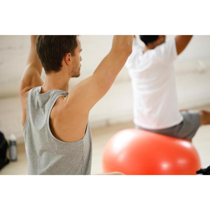 Mouwloos herenshirt 500 voor gym en stretching regular fit marineblauw