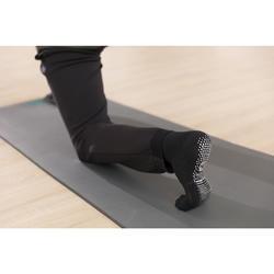 Calcetines Antideslizantes Gimnasia Pilates Domyos Negro