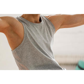 Tank-Shirt 500 Gym & Pilates Herren schwarz