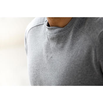 Sweat col rond Gym & Pilates homme gris chiné - 1230334