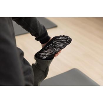 Antislip sokken voor lichte gym en pilates zwart