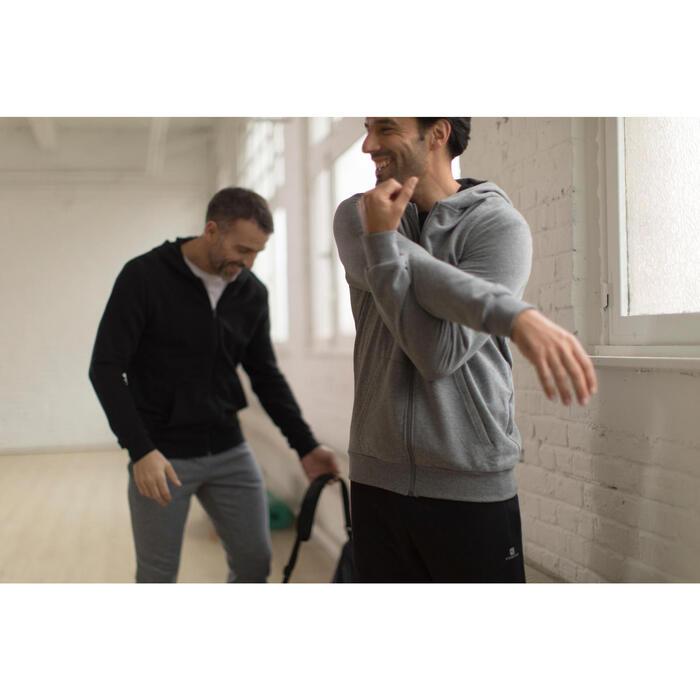 Kapuzenjacke Gym & Pilates Herren schwarz