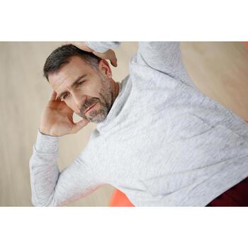Sweat capuche Gym & Pilates homme foncé - 1230414