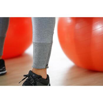 Herenbroek voor gym en pilates, skinny fit, bordeaux