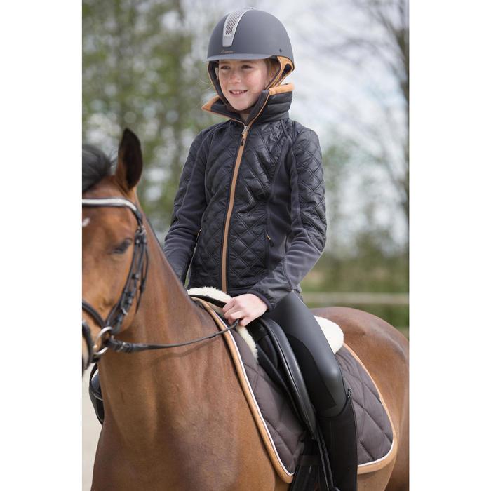Polaire bi-matière équitation enfant PADDOCK gris/camel