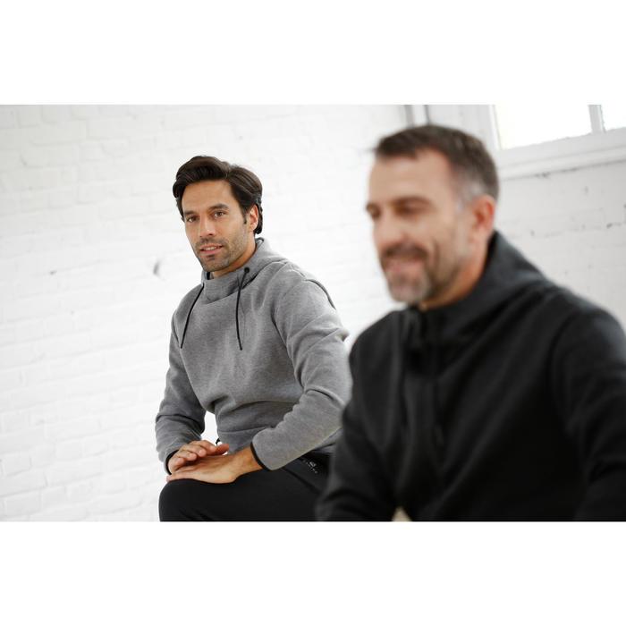 Veste 560 capuche Pilates Gym douce homme gris chiné foncé