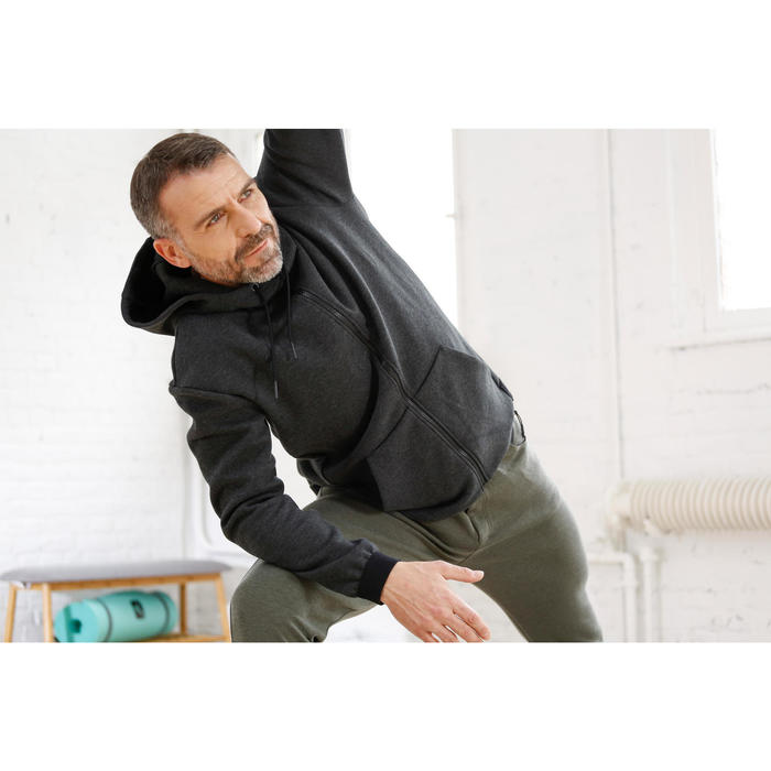Veste 560 capuche Gym Stretching homme - 1230598