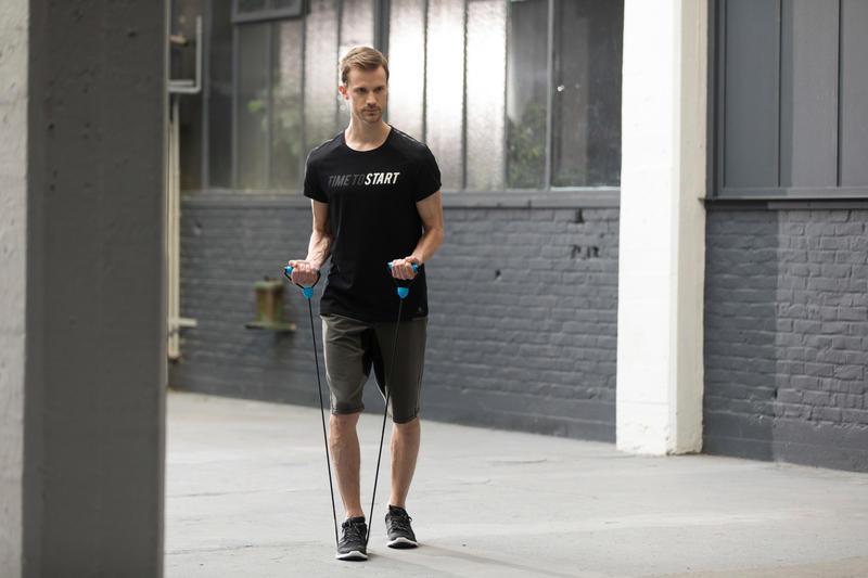 900 Pilates & Toning Medium Resistance Elastic Band with Handles