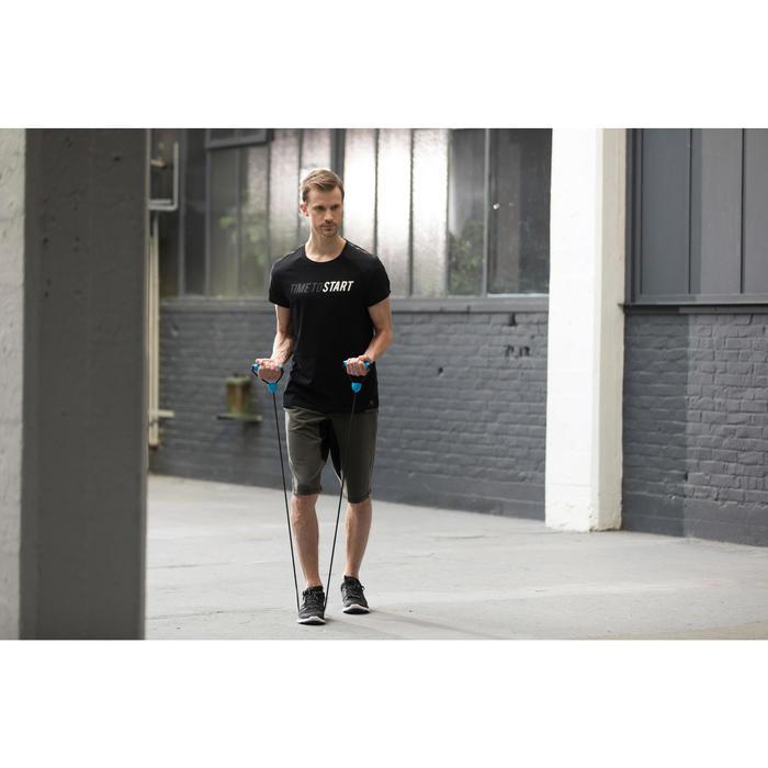 Elastikband Gym Medium 900 mit Griffen Pilates Toning mittlerer Widerstand
