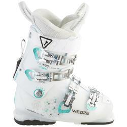 Skischoenen voor dames pisteskiën Wid 500 wit