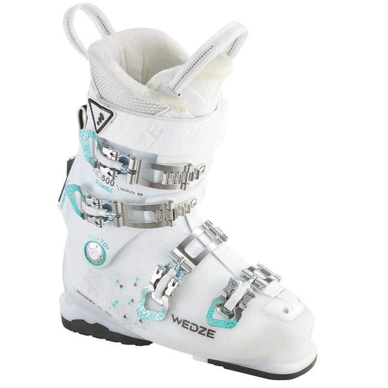 WOMEN'S SKI BOOTS INTERMED. SKIERS Schi si Snowboard - Clăpari Schi Wid 500 Alb Damă WED'ZE - Schiuri, clapari, bete