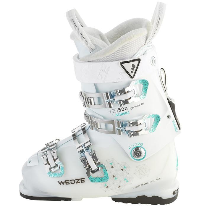 Botas de esquí All Mountain mujer WID 500 blanco