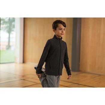 Veste 100 Gym garçon poches gris foncé - 1230920