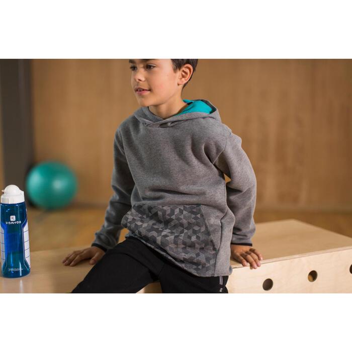 Sweat 500 Gym garçon capuche imprimé - 1230929