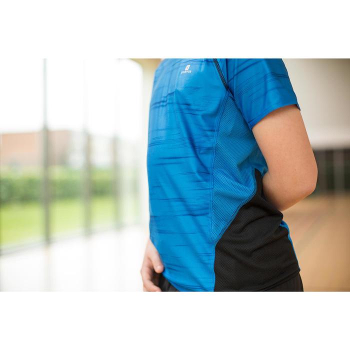 Camiseta manga corta slim S900 gimnasia niño negro estampado