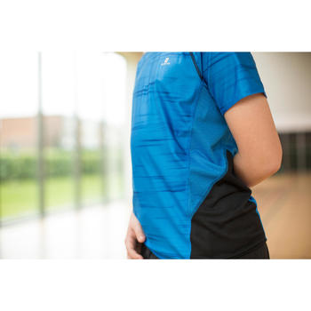 T-Shirt Kurzarm Slim S900 Gym Kinder schwarz mit Print