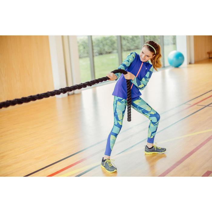 Gym hoodie met rits S900 voor meisjes print blauw