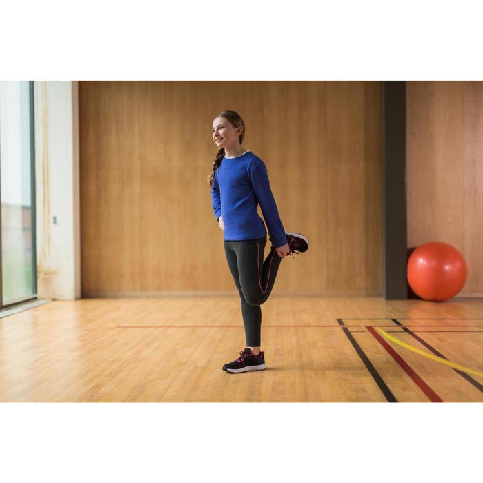 Gym hoodie met rits S900 voor jongens marineblauw rood