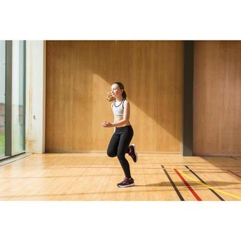 Gym kuitbroek voor meisjes, regular fit, grijs