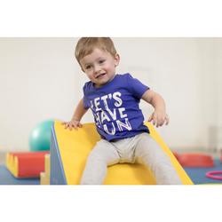 Camiseta de manga corta 100 gimnasia infantil azul estampado