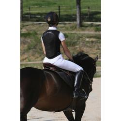 Protector dorsal de equitación, flexible y negro, para niño y adulto
