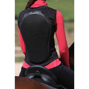Adult and Children's Flexible Horse Riding Back Protector - Black