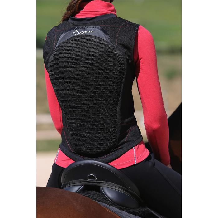 Protection dorsale souple équitation enfant et adulte noir - 123116