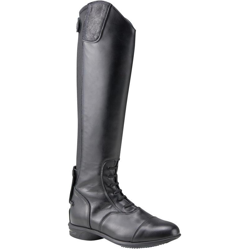 Bottes cuir équitation adulte LB 900 noir