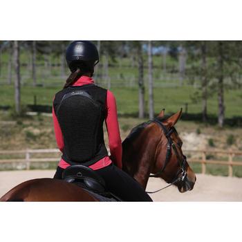Protection dorsale souple équitation enfant et adulte noir - 123120