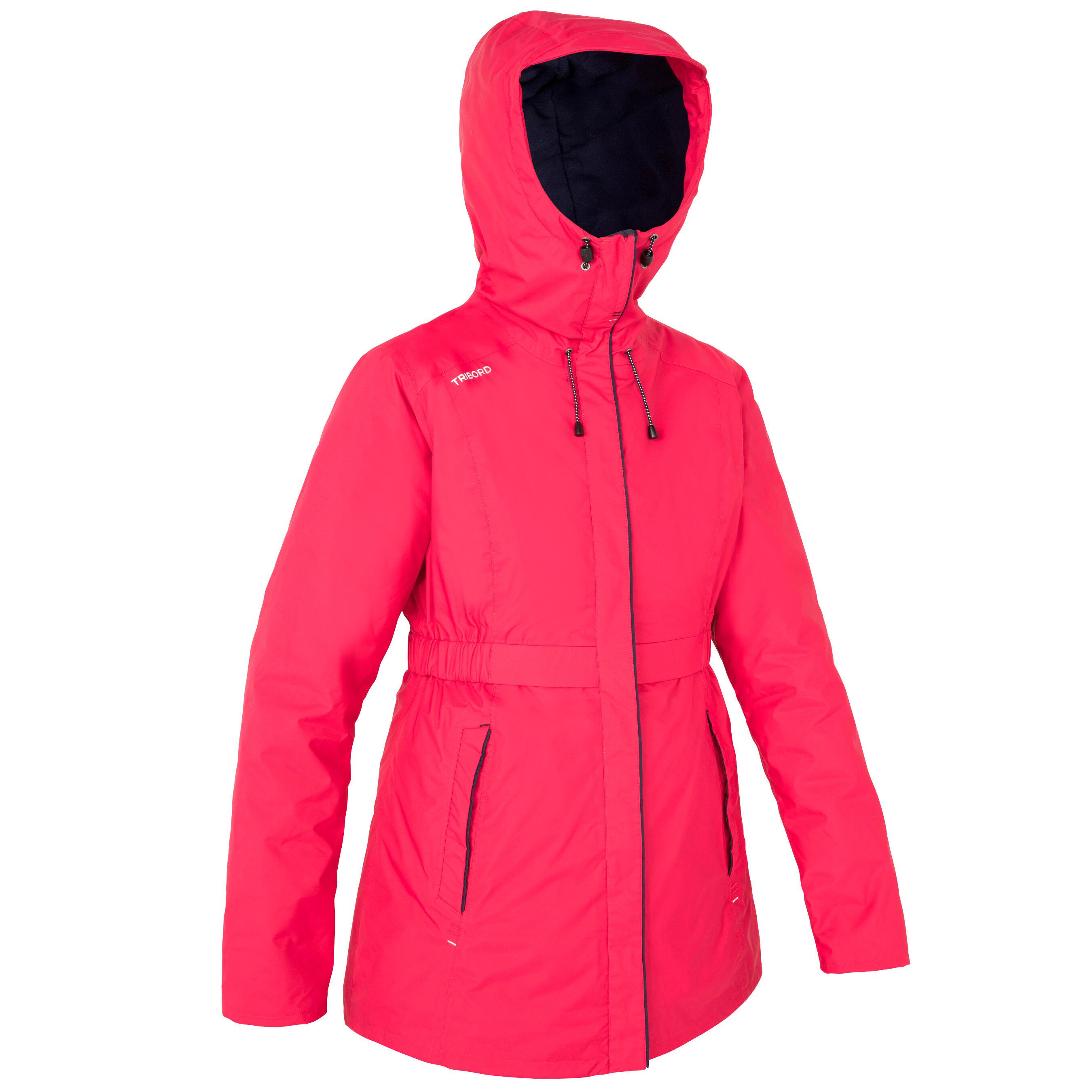 Segeljacke warm 100 Damen rosa | Sportbekleidung > Sportjacken > Sonstige Sportjacken | Rosa | Tribord